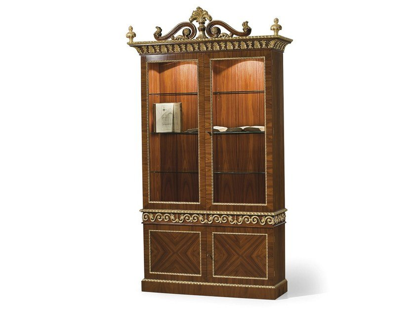 Wood and glass display cabinet MG 1141 by OAK