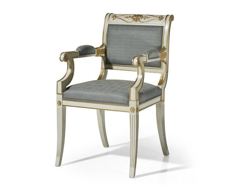 Upholstered fabric chair with armrests MG 1149 by OAK