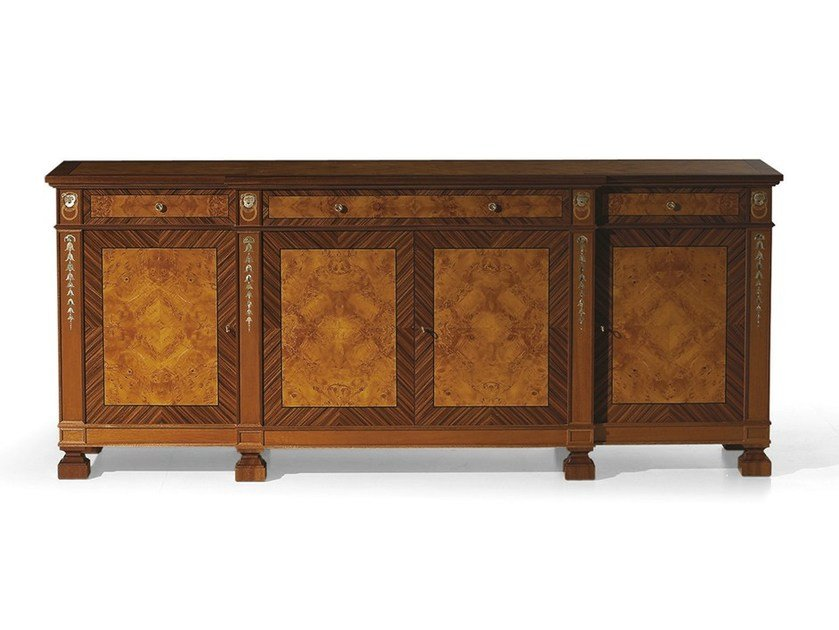Wooden sideboard with doors MG 1182 by OAK