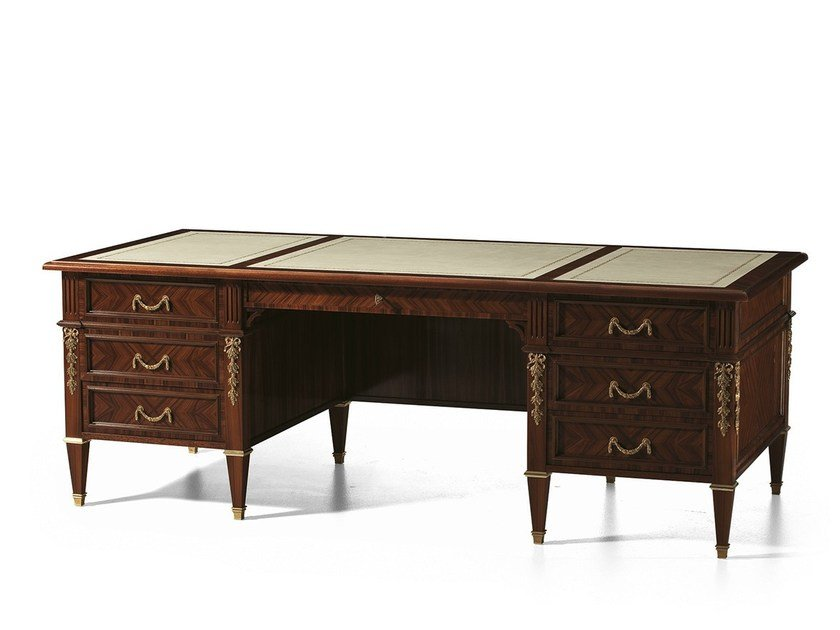 Rosewood writing desk with drawers MG 1226 by OAK