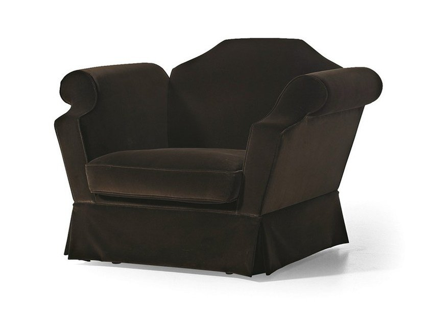 Upholstered fabric armchair with armrests MG 3071 by OAK
