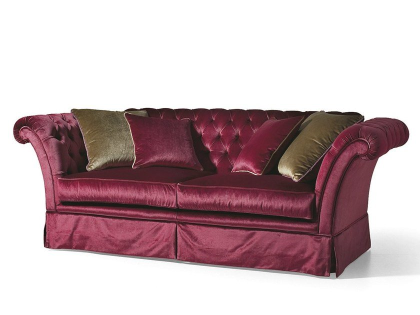 Tufted 3 seater fabric sofa MG 3263/3 by OAK