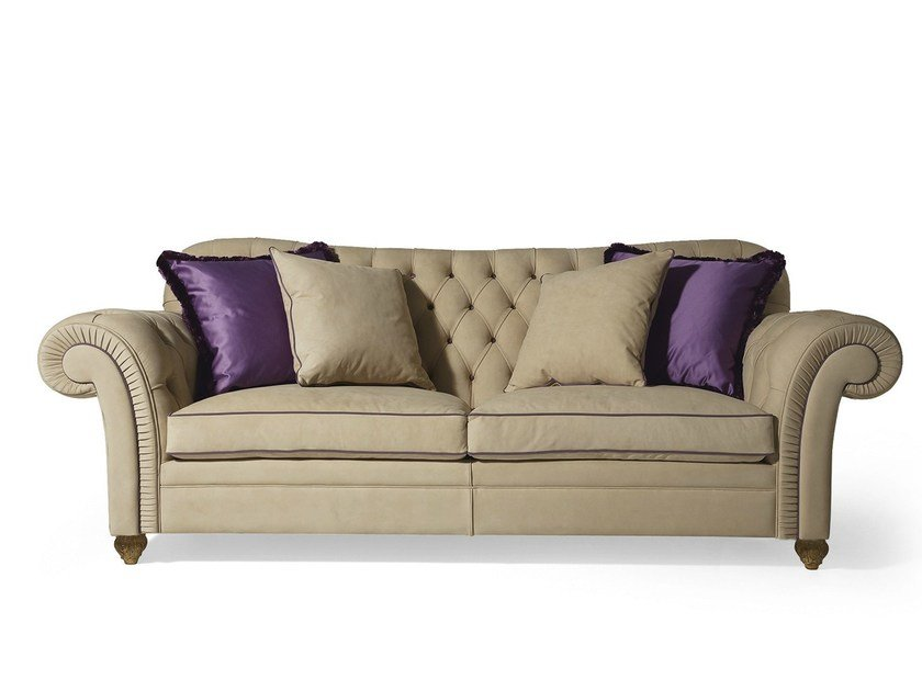 Tufted 3 seater fabric sofa MG 3304 by OAK