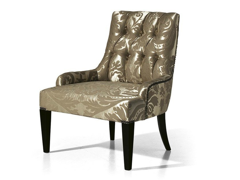 Tufted upholstered fabric armchair MG 3451 by OAK