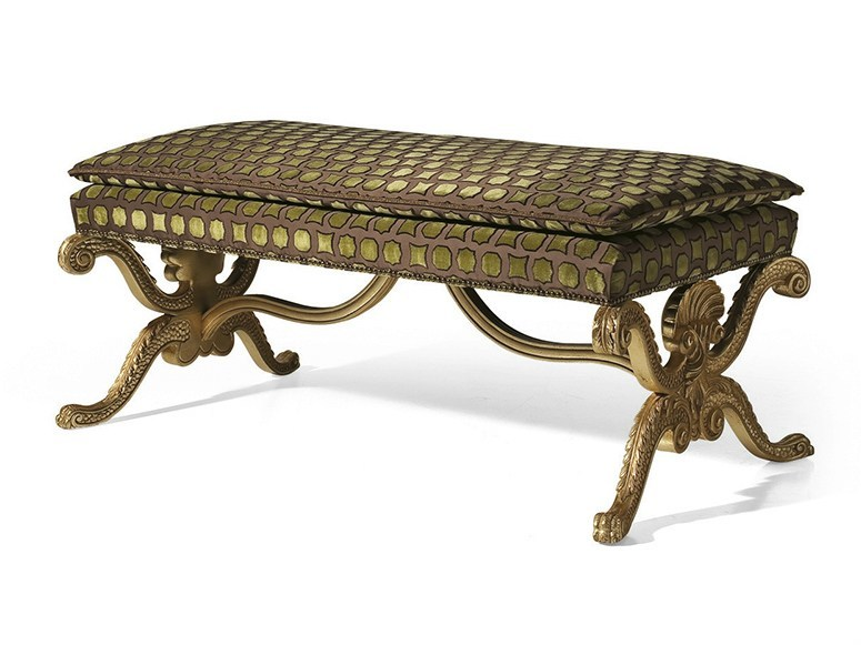 Upholstered fabric bench MG 3510 by OAK