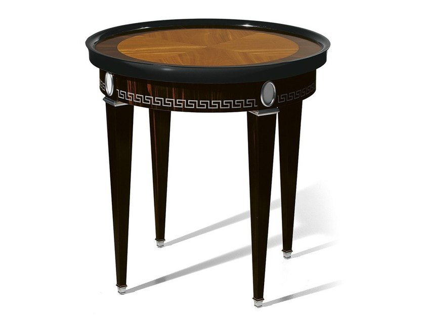 Round ebony coffee table MG 4268 by OAK
