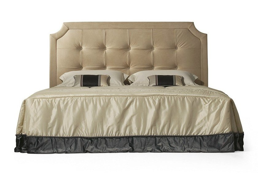 Double bed with tufted headboard MG 6612 by OAK