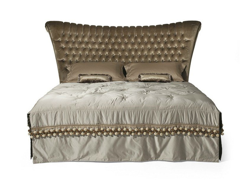 Double bed with tufted headboard MG 6652 by OAK