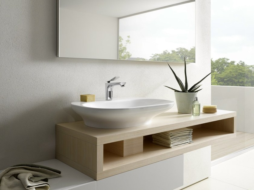 Single wall-mounted English oak vanity unit MH | Vanity unit by TOTO
