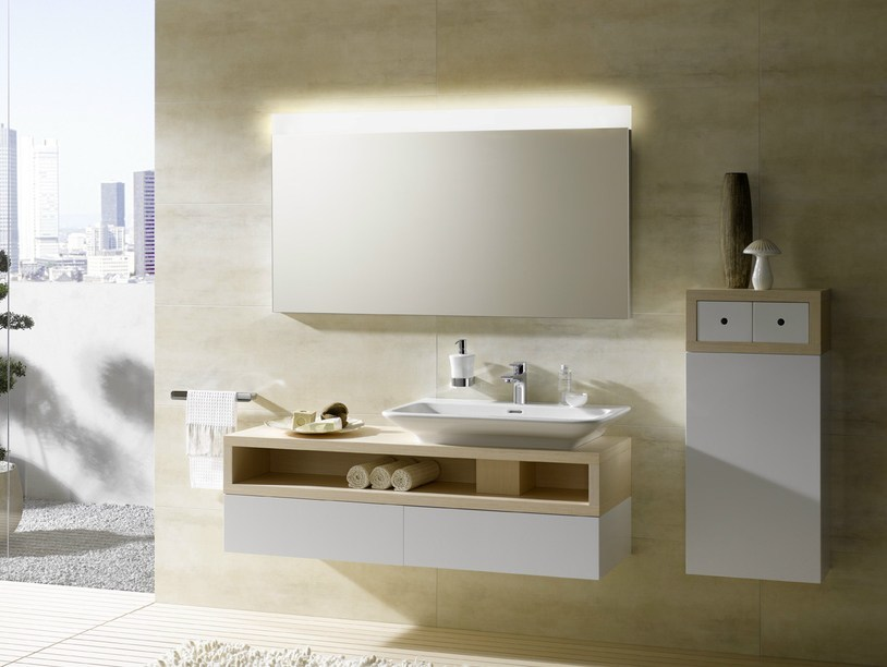 Single wall-mounted wooden vanity unit MH | Wooden vanity unit by TOTO