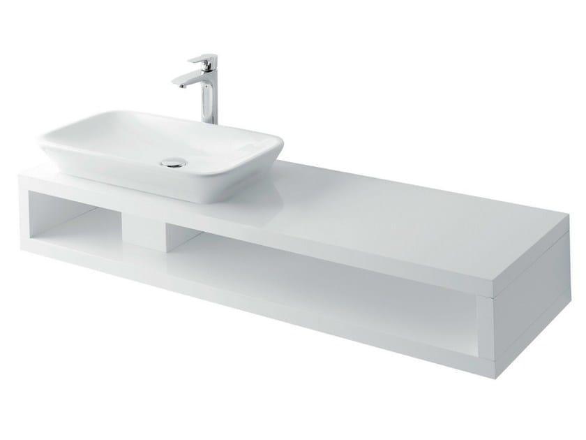 Single wooden washbasin countertop MH | Single washbasin countertop by TOTO