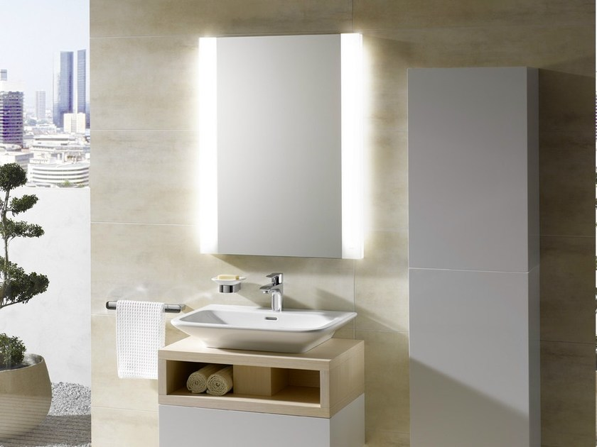Wall Mounted Bathroom Mirror With Integrated Lighting MH | Bathroom Mirror  By TOTO
