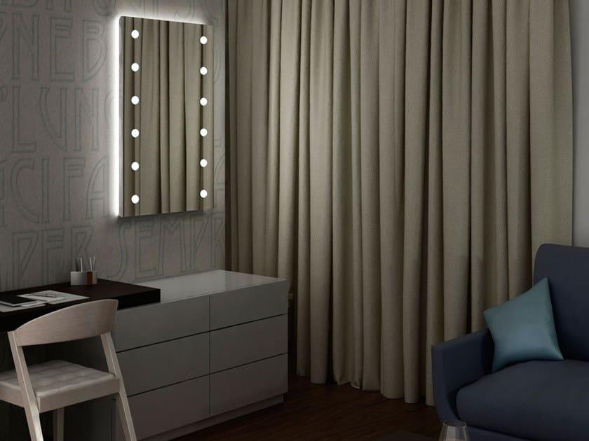 Specchio in alluminio in stile moderno da parete con cornice con