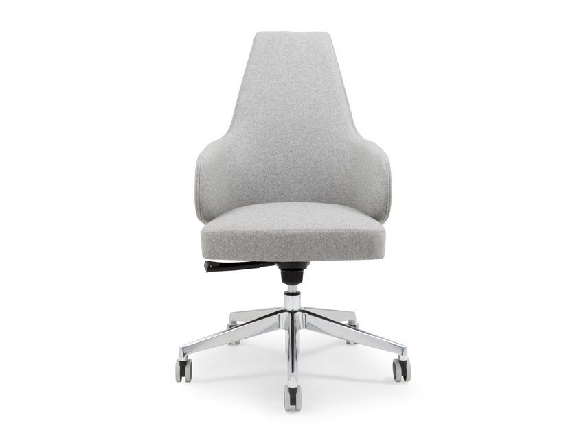 Swivel chair with 5-spoke base with armrests MIA 210 OFFICE by Riccardo Rivoli