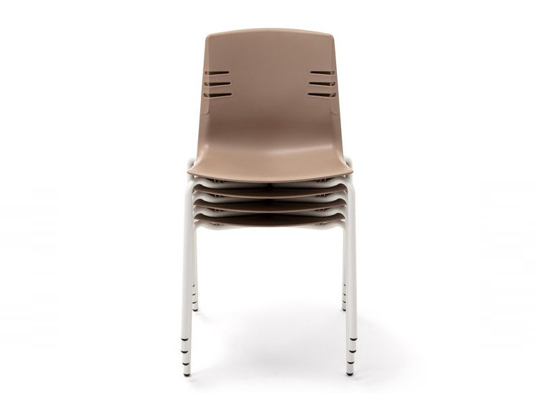 Stackable polypropylene chair MIA | Chair by Mara