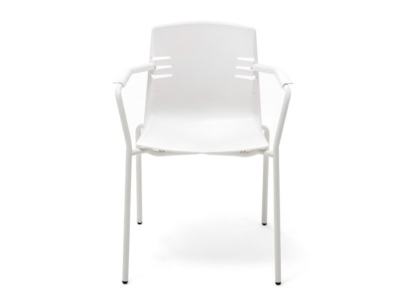 Stackable polypropylene chair with armrests MIA | Chair with armrests by Mara