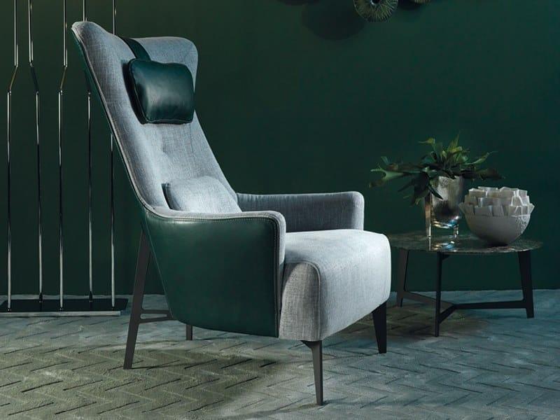 Bergere fabric armchair MIA | Fabric armchair by Borzalino