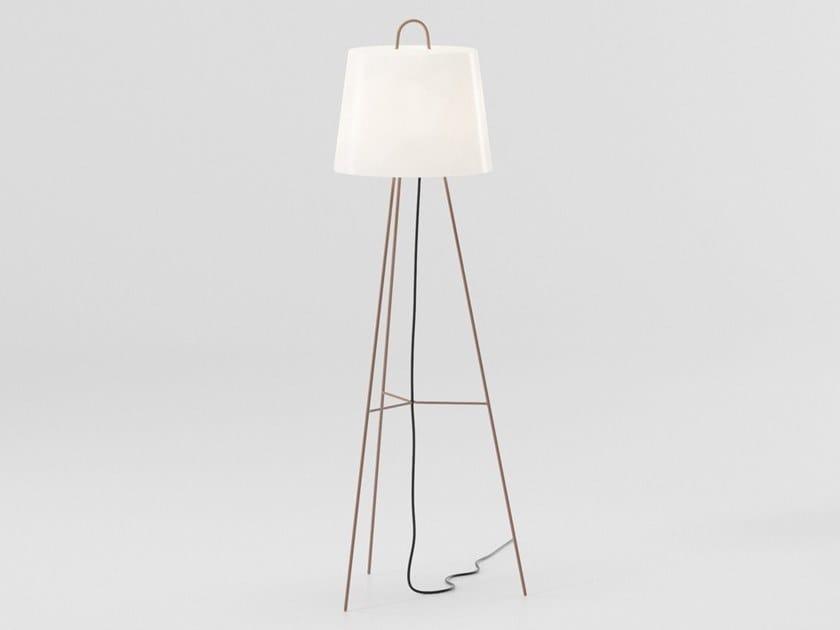 Lámpara de pie de vidrio grabado al ácido MIA | Lámpara de pie by KETTAL