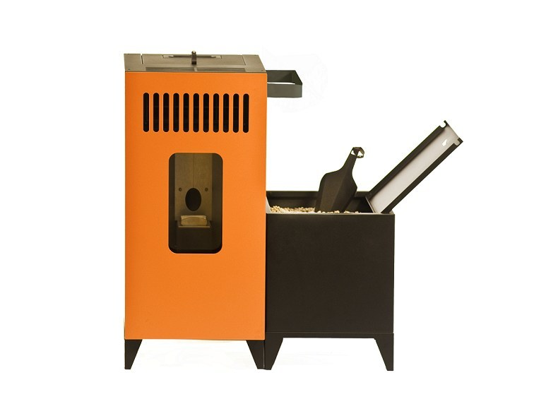 Pellet stainless steel stove MIA by OLIMPIA SPLENDID
