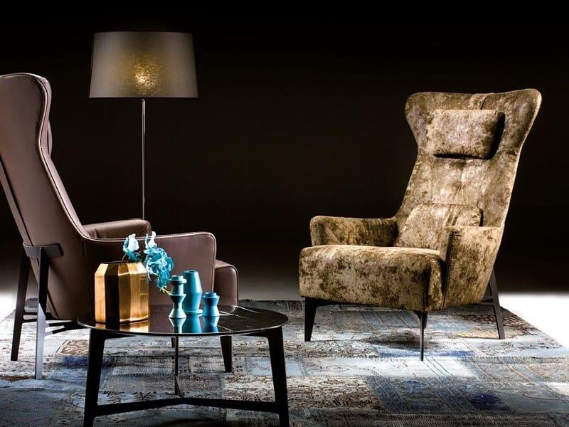 Bergere velvet armchair MIA | Velvet armchair by Borzalino