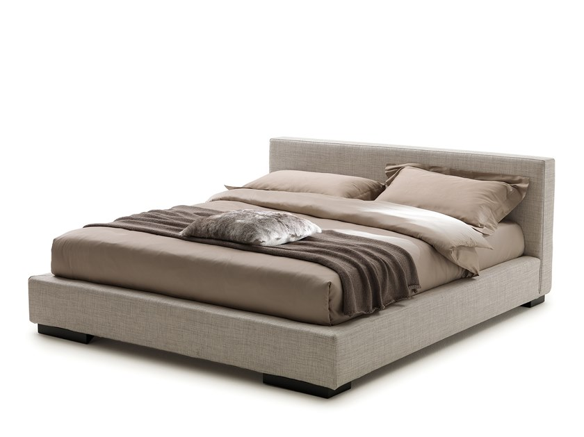 Upholstered fabric bed double bed MIAMI by Flexstyle