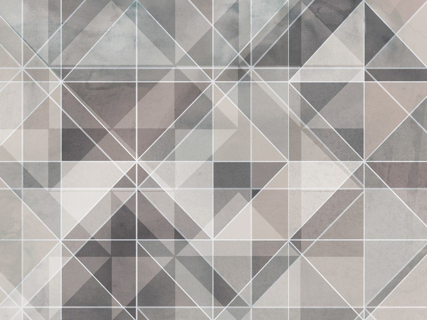 Geometric wallpaper MIAMI by Italian Wallcoverings Tecnografica