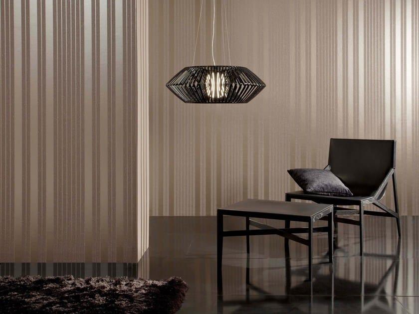 Non-woven paper wallpaper MICA STRIPE OLEFIN by Omexco