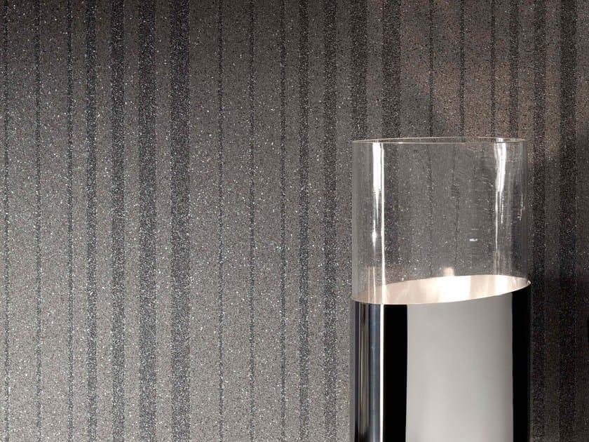 Non-woven paper wallpaper MICA STRIPE SPARKLE by Omexco