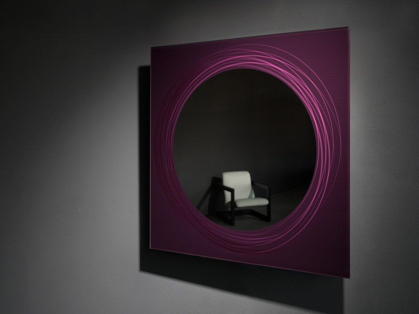 Square wall-mounted mirror MICHELLE by Elli Design