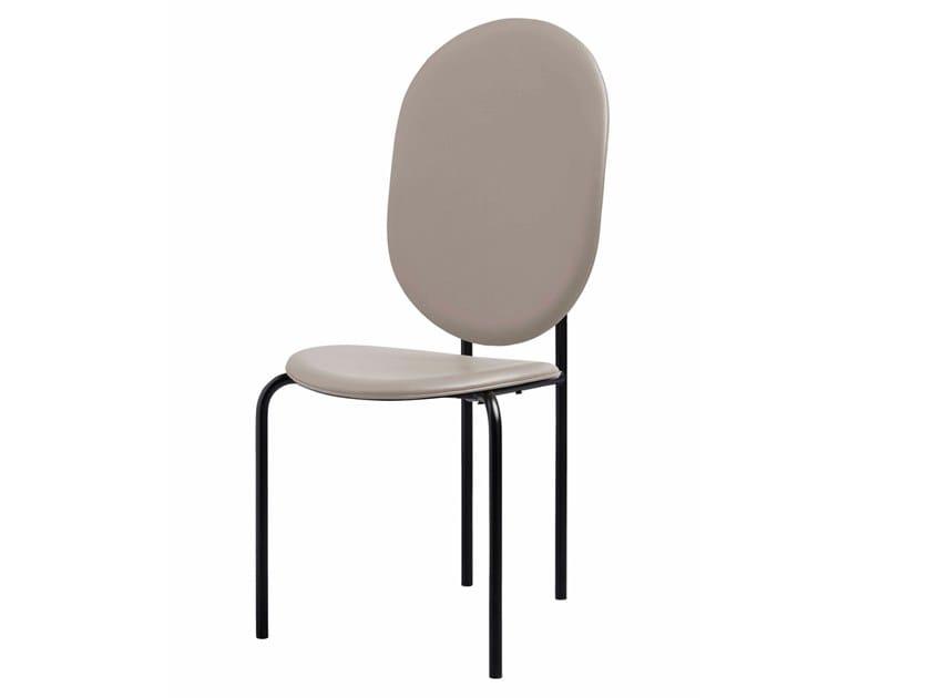 Cadeira de pele com encosto alto MICHELLE   Cadeira de pele by SP01