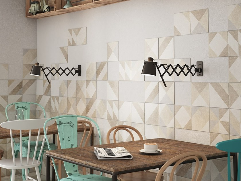 Anti-slip indoor/outdoor wall/floor tiles with stone effect MICRO by EQUIPE CERAMICAS