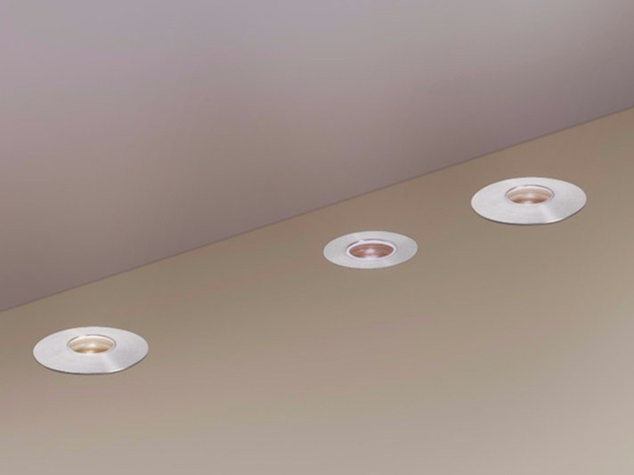 LED stainless steel Floor Light MICROLED by Artemide