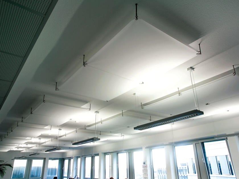 Pannello acustico a soffitto o a parete in PVC BARRISOL® MICROSORBER | Isole acustiche by BARRISOL
