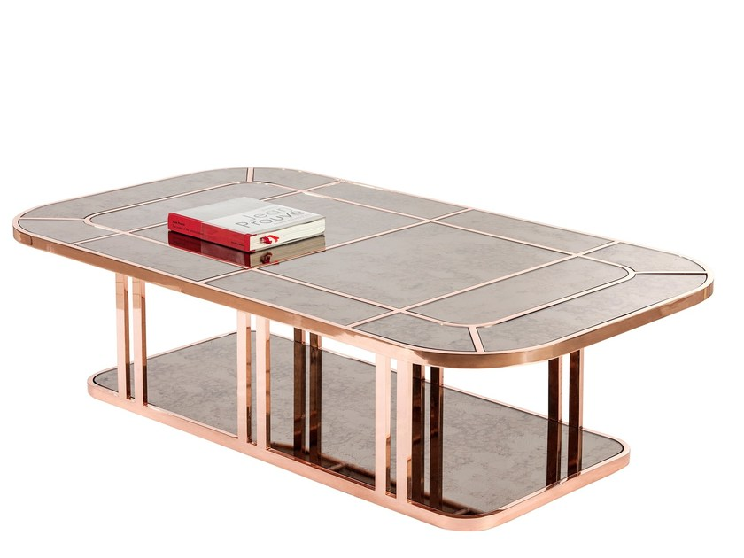 Marble coffee table MID-LINER by KONTRA