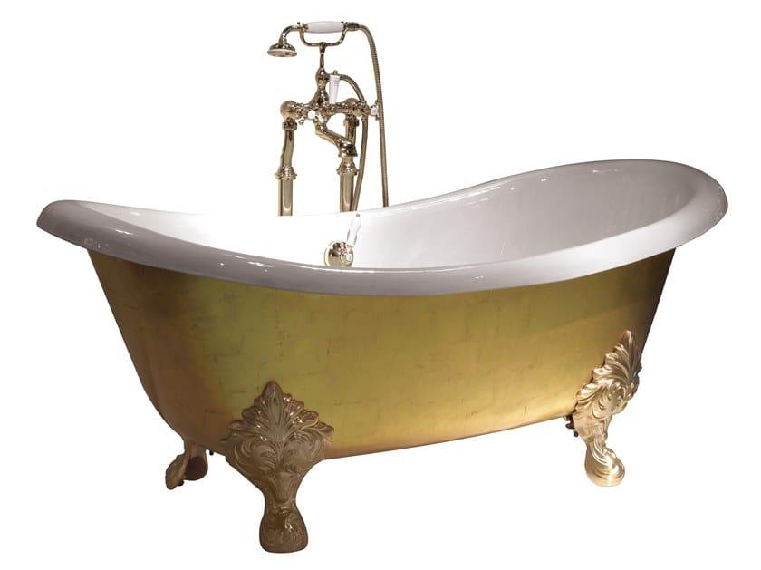 Vasca da bagno foglia oro MIDA by Devon&Devon
