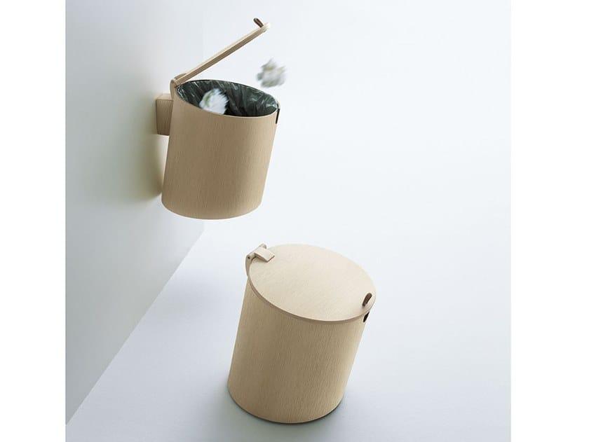 Multi Layer Wood Bathroom Waste Bin Midi Basket By Agape Design