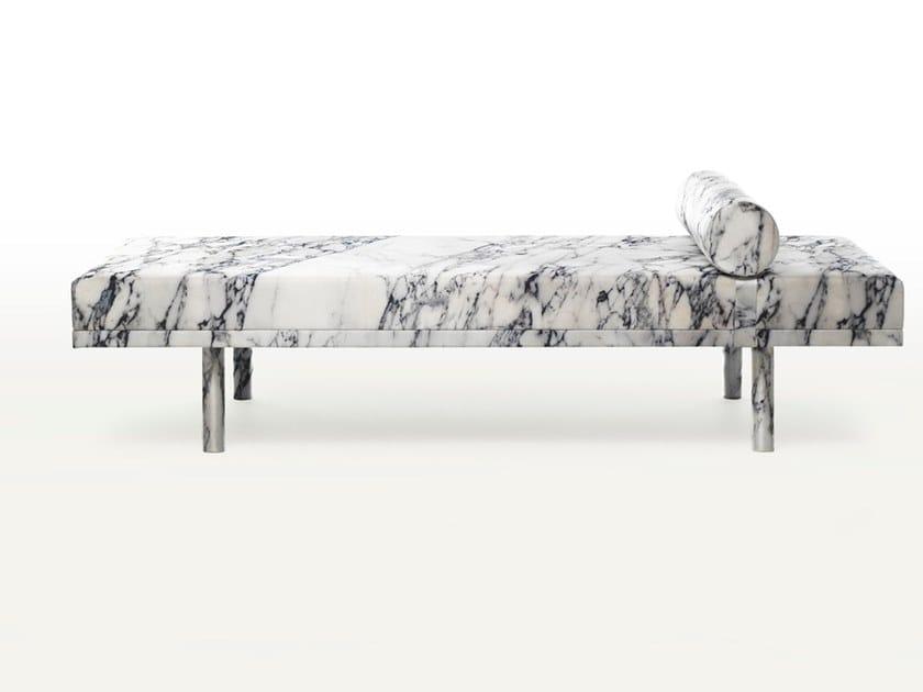 Upholstered silk day bed MIES VISITS CARRARA by BALERI ITALIA
