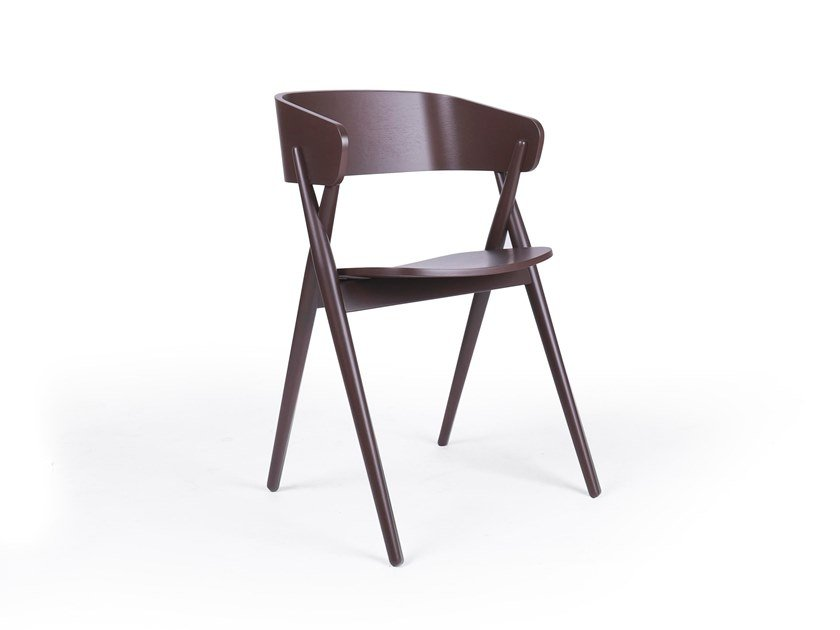 Wooden chair MIKADO by Fenabel
