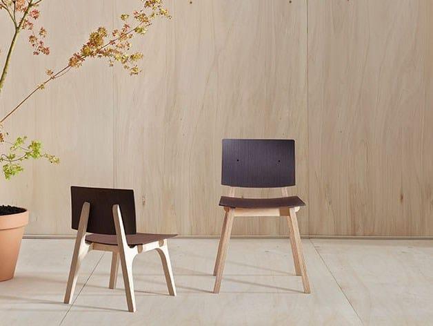 Multi-layer wood kids chair MIKADO XS by ONDARRETA