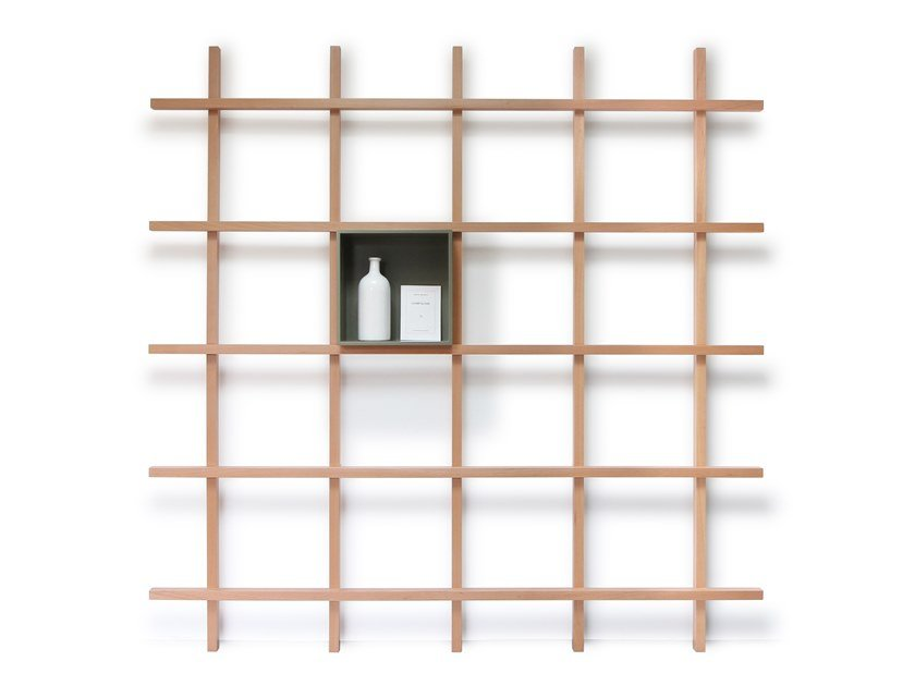 Open wooden shelving unit MIKE by Compagnie
