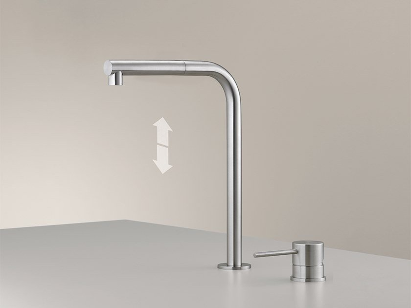 2 hole kitchen mixer tap with pull out spray MIL 215 by Ceadesign
