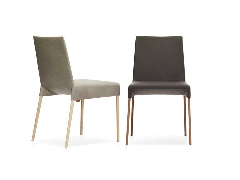 Upholstered leather chair MILA by Montis