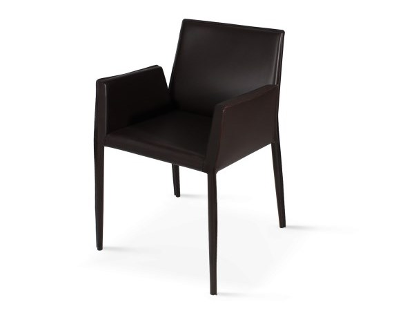 Leather chair with armrests MILAN by Emotional Projects