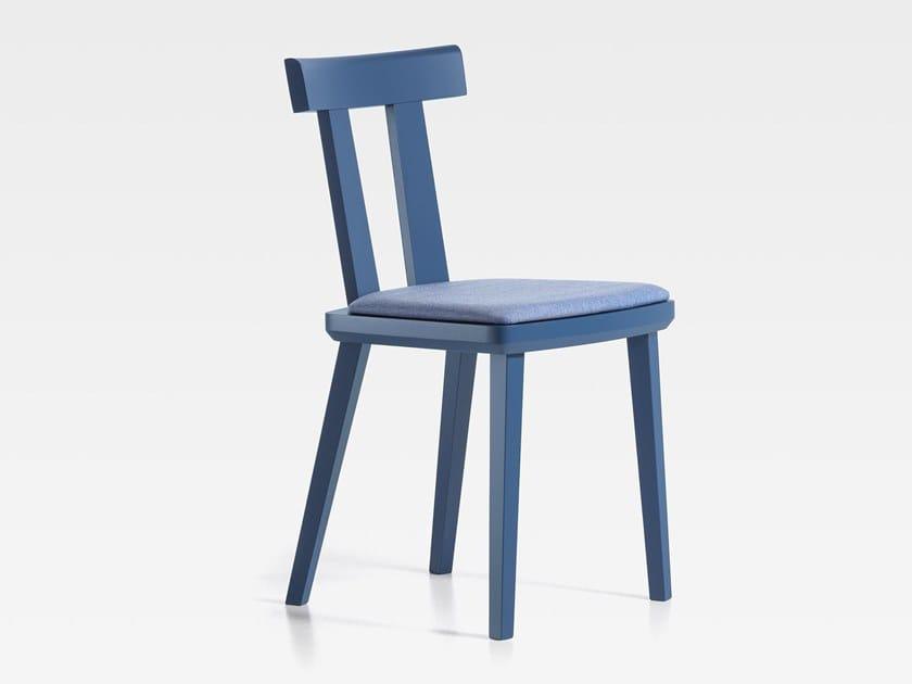 Sedia in legno con cuscino integrato MILANO   Sedia con cuscino integrato by SIPA