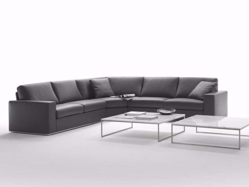 Sectional corner leather sofa MILANO | Corner sofa by Marelli