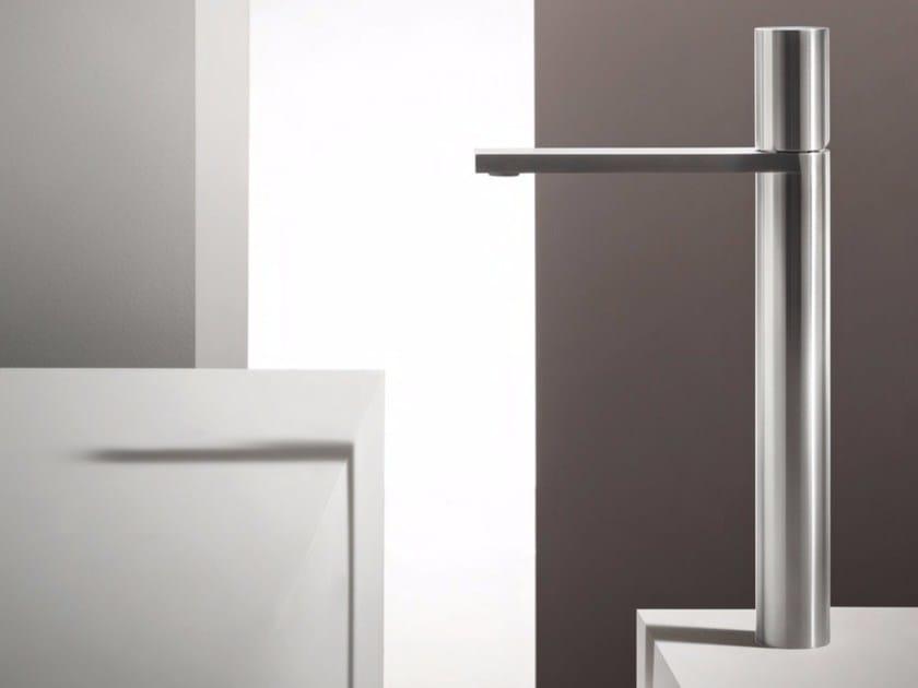 Countertop single handle stainless steel washbasin mixer MILANO - 3006 by Fantini Rubinetti