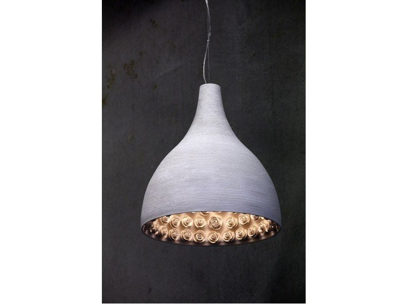 Plaster pendant lamp MILANO by GESSO