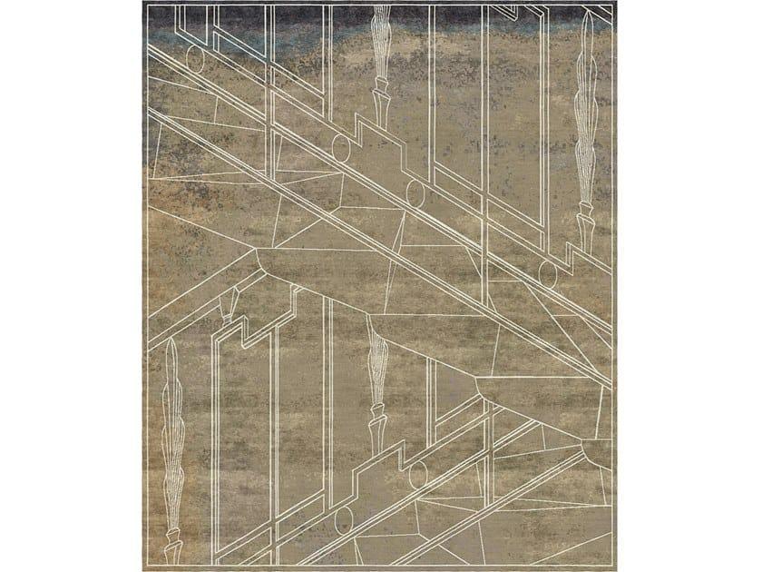 Handmade rectangular rug MILANO KHAKI by Tapis Rouge