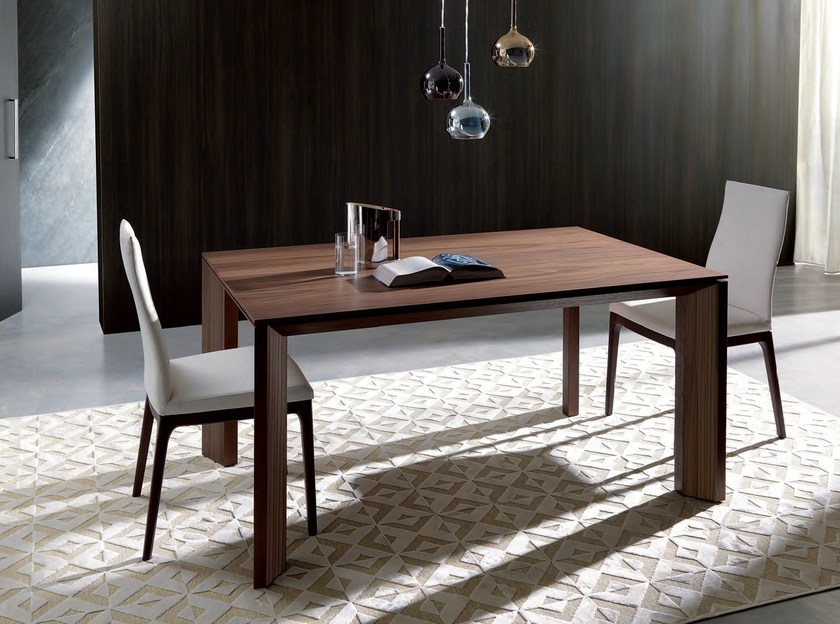 Extending wooden dining table MILANODUE by Ozzio Italia