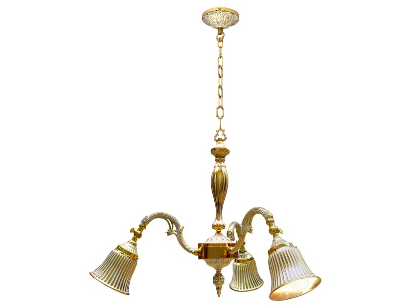 Brass pendant lamp MILAZZO I | Pendant lamp by FEDE